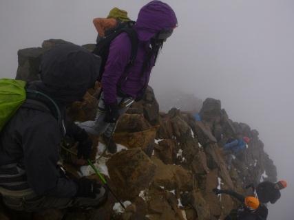 """0Los Ilinizas, Ecuador, hard climbing until """"la cumbre"""""""