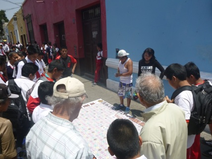 Trujillo, games in the street, Peru