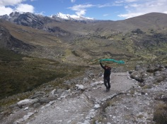 Huaraz, Peru, hiking in Laguna Churup