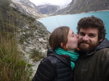 Caraz, Peru, Laguna Paron, kiss time