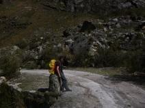 Caraz, Peru, Laguna Paron, hiking 15km, pause