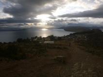 Isla del Sol, Titicaca lake, sun rise, Bolivia