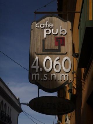 Potosi, café at 4060m high