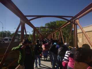 Border between Bolivia and Argentina, 3h queueing for 1 stupid stamp