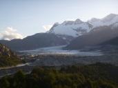 Glacier above Puerto Rio Tranquillo Chile