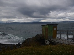 Ushuaia, end of the world toilet, directly in the Beagle canal