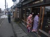 Nikko, japanese tourists with kimono, Japan