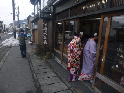 Nikko, japanese tourists with kimono, Japan