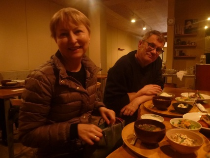 Lunch with Ausra and Gintaras (Ula's parents) in Kyoto, Japan