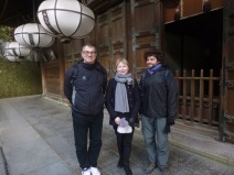Visiting a temple in Nara with Ula's parents, Japan