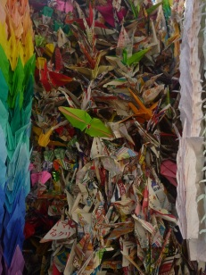 Hiroshima, crane origami sent by schools all over the world for peace, Japan