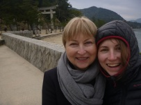 Ula and her mum Ausra, Miyajima island, Japan