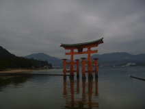 Torii in Miyajima island, Japan