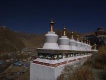 Tibetan chorten, Yushu, Qinghai, China