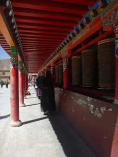 Mani wall close to Yushu, Qinghai, China