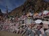 Mani wall, Princess Wencheng monastery close to Yushu, China