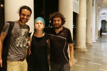 With Florian, Connaught Place, Delhi, India