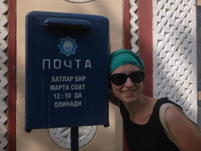 """pochta"", mail box, Samarcand, Uzbekistan"