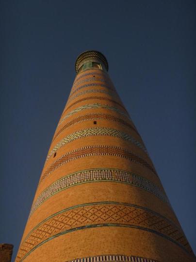 Old minaret, Khiva, Uzbekistan