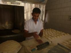 Iraki baker in Yazd, Iran